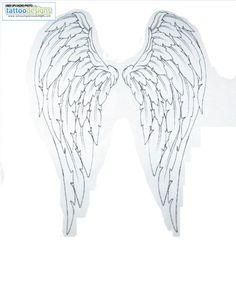 Higher Resolution Angel Wing Tattoos Tattoo Upper