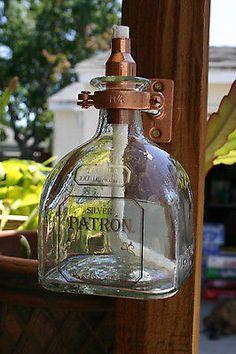 2 Patron Tequila Tiki Torch / Oil Lamps including bottle & hardware Copper/Brass in Home & Garden, Yard, Garden & Outdoor Living, Outdoor Lighting