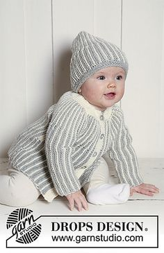 b3da36d97da Ravelry  0-639 Jacket and hat knitted from side to side pattern by DROPS