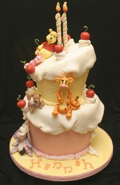 Winnie the Pooh Funky two tier by Grace Stevens, via Flickr