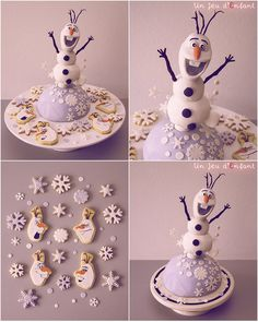 Disney Frozen Olaf cake from Un Jeu d'Enfant #DisneyFrozen