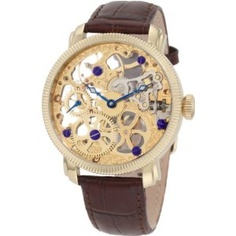 Akribos XXIV Men's AKR418YG Mechanical Skeleton Gold-Tone Watch