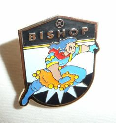 Bishop - Vintage 1993 Marvel Pin Planet Studios - Xmen X-Men X-Force X-Factor #PlanetStudios