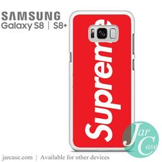 Red Supreme Phone Case for Samsung Galaxy S8 & S8 Plus