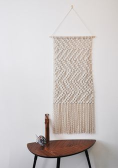 Macrame Wall Hanging - 'Texture' by ShopBrintage on Etsy https://www.etsy.com/listing/293532155/macrame-wall-hanging-texture