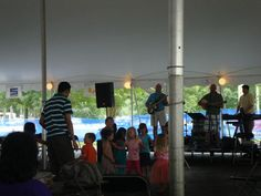 Lazaros Greek band playing at St. Nicholas Greek Orthodox Church for Greek Festival in Wilmington, NC.