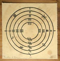 Figure tirée du livre de Ballymote, manuscrit irlandais qui date de la fin du XIVe siècle. Livre dans lequel figure des textes mythologiques ainsi