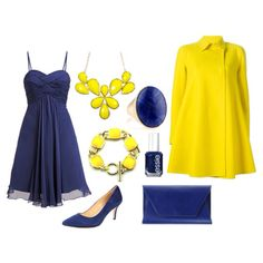 Blue Dress w/ Yellow Accents