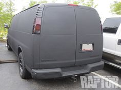 CHEVROLET EXPRESS: Full Overspray #raptorised Plastic Coating, Commercial Vehicle, Chevrolet, Ford, Van, Vehicles, Vans, Cars, Vehicle