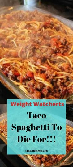 Taco Spaghetti To Die For! Ww Recipes, Mexican Food Recipes, Pasta Recipes, Cooking Recipes, Healthy Recipes, Ethnic Recipes, Crowd Recipes, Recipies, Dessert Recipes