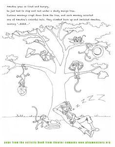Hat seller and the monkeys by Saskia Pekelharing Illustrations