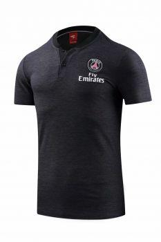 brand new 2204a d8b0f 2018-19 Cheap Polo Jersey PSG Black Replica Football Shirt ...
