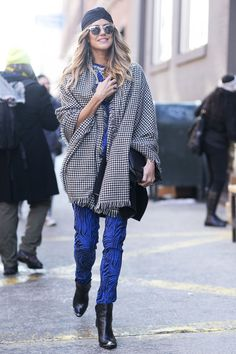 Downtown cool street style at New York Fashion Week #streetstyle #NYFW                                                                                                1 / 97