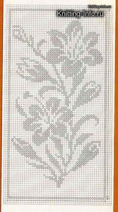 Kira scheme crochet: Scheme crochet no. Crochet Motif Patterns, Crochet Chart, Loom Patterns, Crochet Designs, Crochet Stitches, Embroidery Stitches, Cross Stitch Borders, Cross Stitch Flowers, Cross Stitch Designs