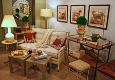 Breakfast is served in this cozy #sofa vignette at #Chicago #Mecox #interiordesign #MecoxGardens #furniture #shopping #home #decor #design #room #design #room #designidea #vintage #antiques #garden
