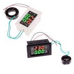 AC Digital Ammeter Voltmeter LCD Panel Amp Volt Meter 100A 300V 110V 220V High Quality