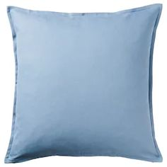 IKEA - BLÅGRAN, Cushion cover, blue, white, Cotton is a soft and easy-care natural material that you can machine wash. The hidden zipper makes the cover easy to remove. Light Blue Throw Pillows, Blue Cushions, Decorative Throw Pillows, Sofa Pillow Covers, Cushions On Sofa, Cushion Covers, Chair Pillow, Recycling Facility, Ikea Family