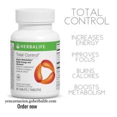 mg of caffeine per tablet -Quickly stimulates metabolism* Increases alertness* -Provides an energetic sensation* -Proprietary blend of green, black and oolong teas provides antioxidant support* -Kosher Certified Total Control Herbalife, Herbalife Shop, Herbalife Quotes, Herbalife Meal Plan, Herbalife Shake Recipes, Herbalife Weight Loss, Herbalife Distributor, Herbalife Nutrition, Herbalife Products