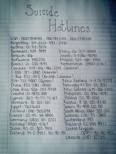This is so unbelievably important please please please pass this on you could save someone's life