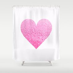 """GATSBY PINK HEART  by Monika Strigel Shower Curtain / 71"""" by 74"""" $68.00 Limited Time Offer — Spend $75 and take $10 OFF"""