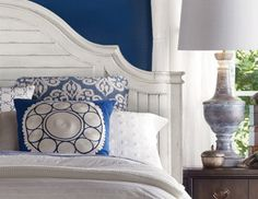 I pinned this from the Classic Navy & Crisp White - Furniture & Accents Inspired by the Hamptons event at Joss and Main!  I love classic Navy and White.  Now just add beach house....