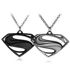 Superman hero logo hoge kwaliteit hangers lichtmetalen kettingen gift voor mannen en vrouwen film sieraden gratis verzending