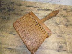 Old vintage brush or wisk broom Square end