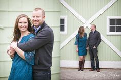 MSU Tollgate Farm engagement session by green barn - Kate Saler Photography