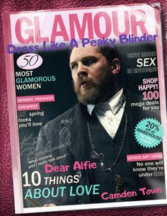 """Holy Shit, Tom/Alfie Solomon's on the cover of Glamour magazine!?! Article on """"How to dress like a Peaky Blinder"""" & a """"Dear Alfie"""" column! People really💙Tom & Peaky Blinders, as they should. I'm guessing since filming Season 4 on Formby Beach in 3/17 got people excited. Praying it will air this yr & soon! I've seen Season 3- 3x now & want Season 4 now... Gotcha, I made this w/a cool & fun photo app! I had 2 much free time 2day😜as you'll see others! I think their funny & hope you do too…"""