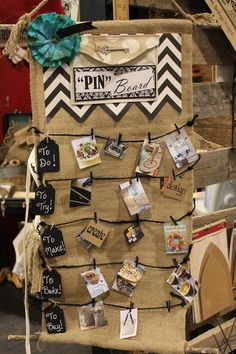 An IRL Pinboard at CHA! Love this for so many reasons! I think I'll make one for my scrap workshop.