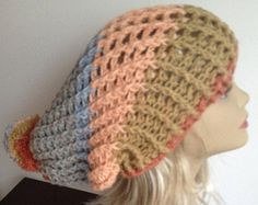 Slouchy Adult Hat Crochet Rasta Bob Marley Fits Almost All