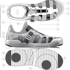 Behind The Scenes By conceptkicks Shoe Sketches, How To Make Shoes, Custom Sneakers, Fashion Flats, Character Inspiration, Designer Shoes, Technical Illustrations, Running Shoes, Adidas Sneakers