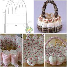 DIY Cute Easter Bunny Basket Tutorial diy how to tutorial
