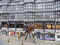 The rows in Chester are World famous. Dating from the medieval era. This is an entrance to the Grosvenor shopping centre & Brown's of Chester Main Street, Street View, St. Michael, Kent London, Covered Walkway, Timber Buildings, The Row, Architecture, City