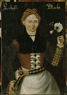 Hand painted reproduction of Girl from Enkhuizen. This masterpiece was painted originally by Anonymous. Commission your beautiful hand painted reproduction of Girl from Enkhuizen. 1550 - Choose from many different sizes. Marriage Images, 16th Century Clothing, German Outfit, Tudor Fashion, Austria, Baroque Painting, Landsknecht, Dutch Golden Age, Renaissance Paintings
