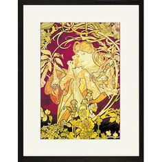 Buyenlarge Ivy by Alphonse Mucha Framed Painting Print