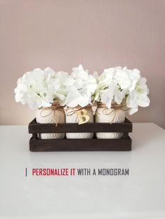Mason Jar Centerpieces / Wood Crate / Dried Flower Arrangement Hydrangea / Home Decor Farmhouse / Aesthetic Room Decor / Vase / Planter Box / Set of 3 Vases / Mantle decor / Our First Home Gift #summerdecor #farmhouse #farmhousedecor #homedecor #homedesign #modernfarmhouse #cozyhome #plants #home #homesweethome #diy #diyhomedecor #seasonaldecor #instagood #instahome #shabbychic #cottage #cottagestyle #stayhome #currentdesignsituation #bhghome #countrylivingmag