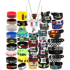 Bracelets, necklaces, and belts from hottopic.com