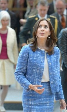 Danish Crown Princess Mary visits the plenary hall of the North Rhine-Westphalian state parliament in Duesseldorf, Germany, 24 June 2013