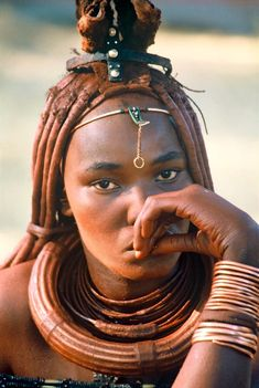 Himba, people of Namibia Tribal People, Tribal Women, African Tribes, African Women, Beautiful Black Women, Beautiful People, Himba Girl, Skin Girl, Himba People