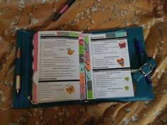 I printed out the flylady routines located on diyplanner.com and than decorated it for my planner.  (Washi  stickers)