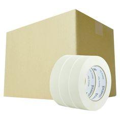 Universal General Purpose Masking Tape, 24mm x 54.8m, 3 Core, 3/Pack, 12 Packs/Carton, Beige