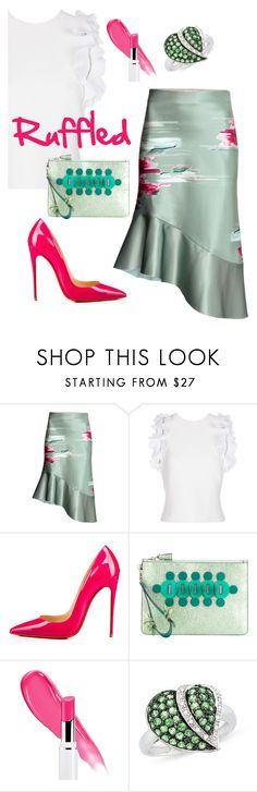 """""""Pink Mint"""" by sunnydays4everkh ❤ liked on Polyvore featuring 3.1 Phillip Lim, Christian Louboutin, Anya Hindmarch and Ice"""