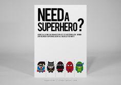 "Abreißkarte ""Superhelden"" zum Verschicken / postcard with superheros by heyheypostcardshop via DaWanda.com"