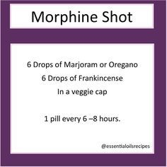 Essential oil pain killer, natural morphine