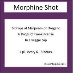 Essential oil pain killer, natural morphine