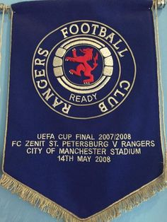 Rangers Football, Rangers Fc, Football Team, City Of Manchester Stadium, Football Program, Ramones, Glasgow, Badges, Flags
