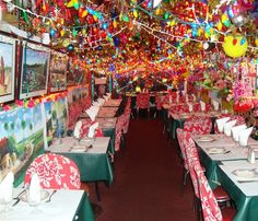 Now that's decorating with Holiday lights!  MILON Indian Restaurant  New York, NY