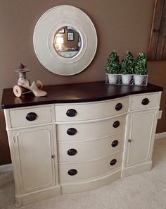 Beautiful Drexel buffet painted in Country Grey. This is the first time I& used this color paint without mixing it with something else. Furniture, Redo Furniture, Refurbished Furniture, Painted Furniture, Repainting Furniture, Refinishing Furniture, Home Decor, Furniture Rehab, Dining Room Furniture
