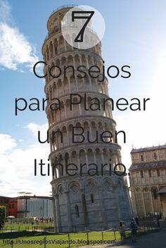 7 Consejos para Planear un Buen Itinerario.